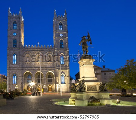 Notre-Dame Basilica at night, Montreal