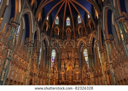 Notre Dame Basilica in Ottawa, Canada