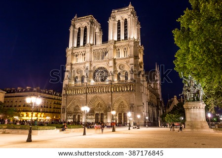 Notre Dame Cathedral in Paris, France Stockfoto ©