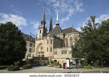 Notre Dame cathedral of Luxembourg city