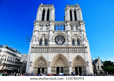Notre Dame Cathedral, Paris, France. Paris tourist attraction