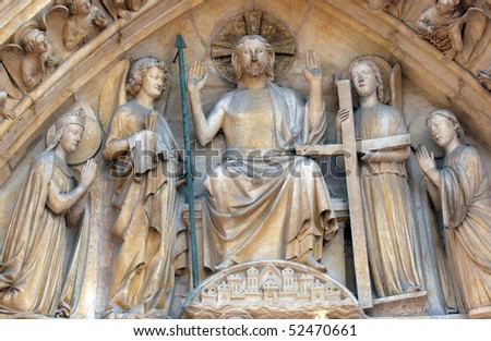 Notre Dame Cathedral, Paris Last Judgment Portal: Christ in Majesty