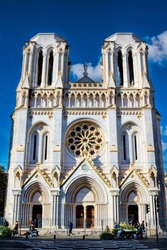 Notre dame church in Nice, France