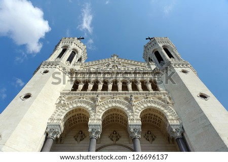 Notre-Dame de Fourvi�¨re, Lyon, France, Europe