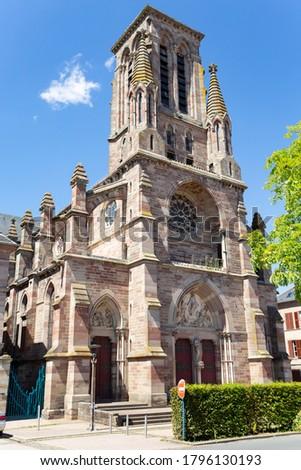 Notre-Dame de l'Assomption church in Phalsbourg, Grand Est, France Photo stock ©