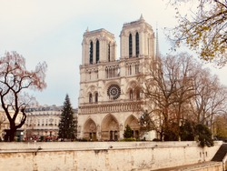 Notre Dame de Paris Cathedral, Paris, France.