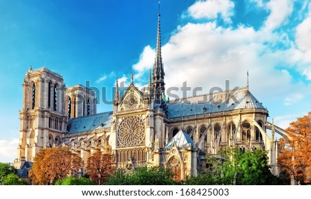 Notre Dame de Paris Cathedral.Paris France