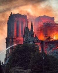Notre Dame Fire in Paris