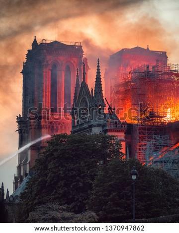 Notre Dame Fire in Paris #1370947862