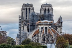 Notre-Dame restoration. Notre-Dame cathedral (Paris) was damaged by fire on 15 april 2019