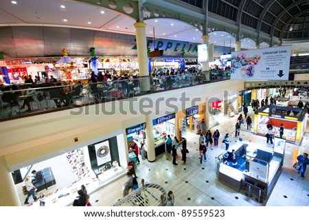 NOV. 25 - GARDEN CITY, NY:  Predawn shoppers at Roosevelt Field Mall in Garden City NY on Black Friday, November 25, 2011.  Black Friday, the day after Thanksgiving, start the holiday shopping season.