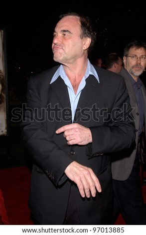 Nov 16, 2004; Los Angeles, CA: Director OLIVER STONE at the world premiere, in Hollywood, of his new movie Alexander.