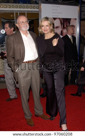 Nov 22, 2004; Los Angeles, CA: News presenter DIANE SAWYER & producer JOHN CALLEY at the Los Angeles premiere of her husband Mike Nichols' new movie Closer.
