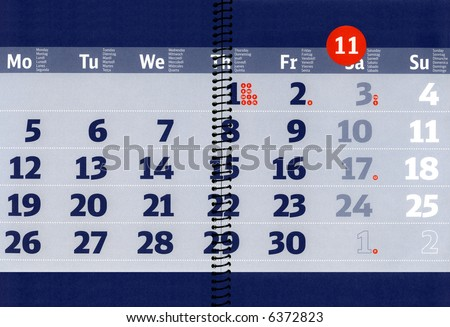 Free Photos Calendar For The Month Of November On The Notebook Sheet
