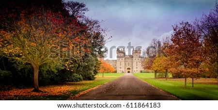 November fall castle  #611864183