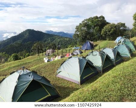 November 8, 2017, thailand, Camping area at Doi Ang Khang, Chiang Mai, Thailand. #1107425924