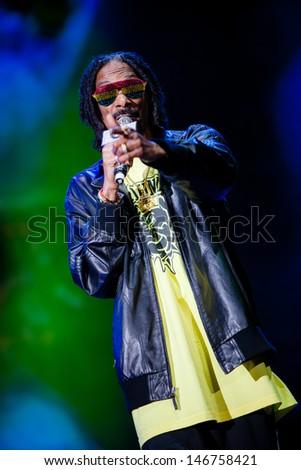 NOVI SAD, SERBIA - JULY 11: Snoop Dogg aka Snoop Lion performs at EXIT 2013 Music Festival, on July 11, 2013 at the Petrovaradin Fortress  in Novi Sad, Serbia.