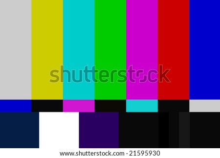 NTSC Color Bars - stock photo