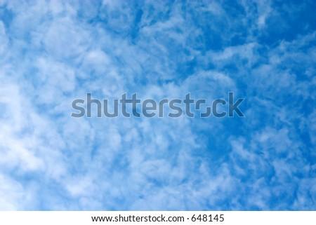 Nubes en el cielo - stock photo