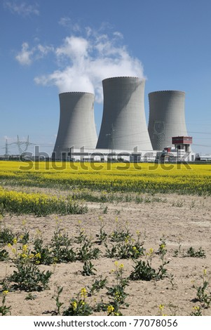 Nuclear electric power station Temelin in the South Bohemian