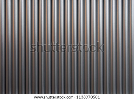 Nuclear fuel rods. Metall rods background. Metall pipes background. #1138970501