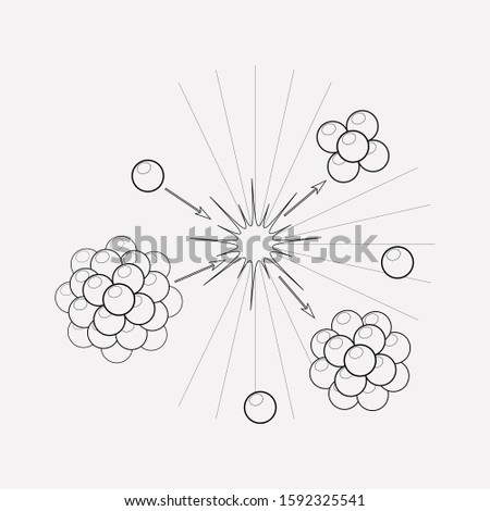 Nuclear physics icon line element. illustration of nuclear physics icon line isolated on clean background for your web mobile app logo design.