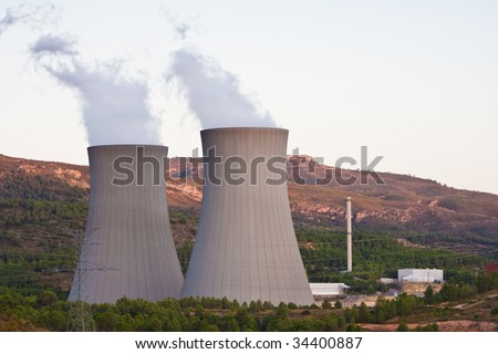 Nuclear plant at full work.