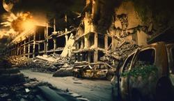 Nuclear post apocalypse survivors concept