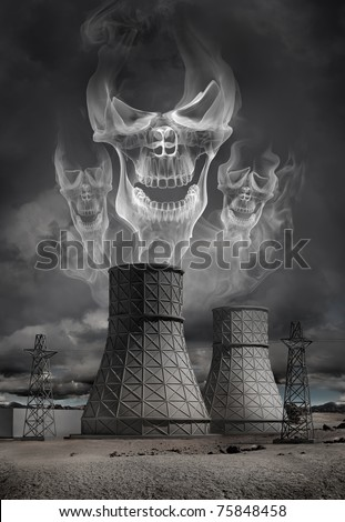 Nuclear power plant accident. Explosion, radiation leakage.