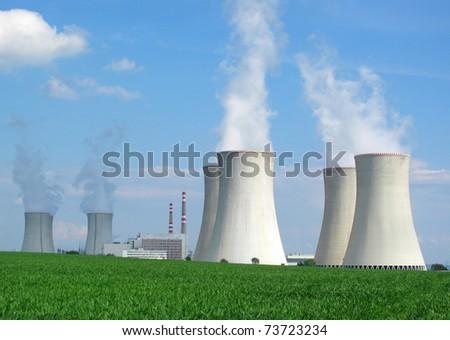 Nuclear power plant Dukovany in Czech Republic, European Union.