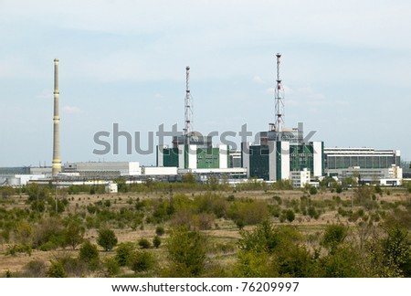 Nuclear power plant in Kozloduy, Bulgaria in April 2011