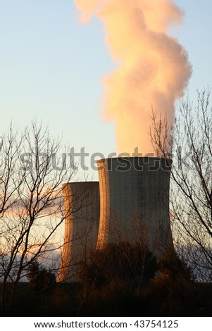 Nuclear power plant, Montelimar, France.