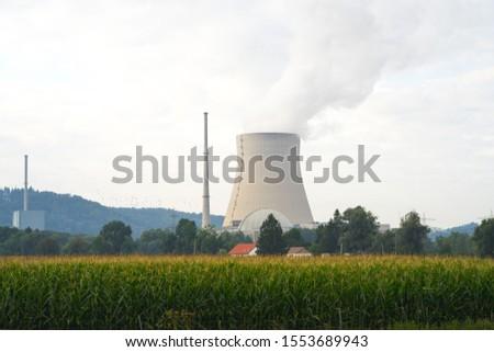 nuclear power plant near the corn fields