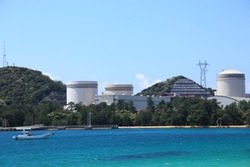 Nuclear power plant of mihama fukui prefecture japan