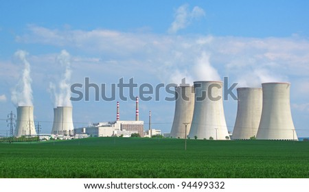 Nuclear power plant panorama.