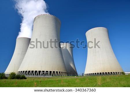 Nuclear power plant Temelin in Czech Republic Europe #340367360