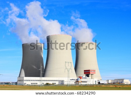 Nuclear power plant Temelin in Czech Republic, Europe.