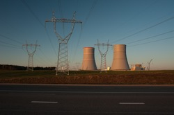 Nuclear power plants and high-voltage power lines.
