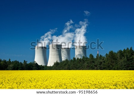 Nuclear power station, green energy, clean technology