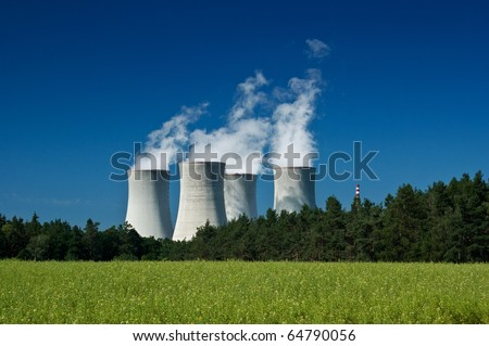 stock photo : Nuclear power station, industry and energy