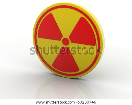 Nuclear Sign Isolatrd on white background