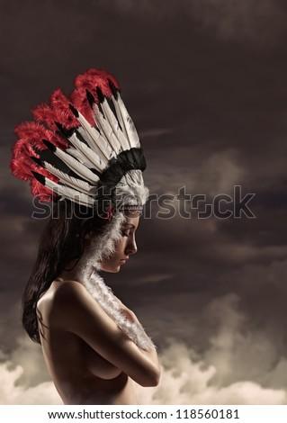 nude American Indian girl Pocahontas