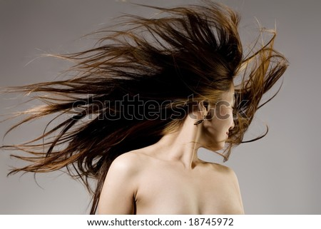 Nude Girls With Wind Blown Hair