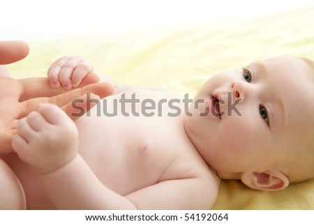 stock photo nude blond baby playing mother hands together 54192064 ... that in Uganda there is a strong belief that people are not born gay, ...