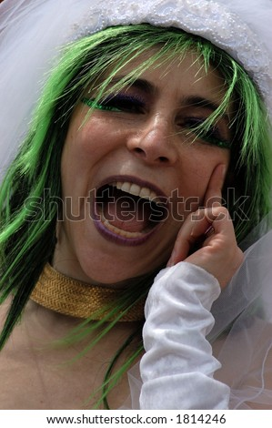 stock photo : nude bride