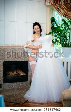 Newest Free Nude bride Striptease. Beautiful girl in white ...