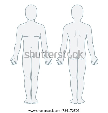 Medical Body Outline Front And Back