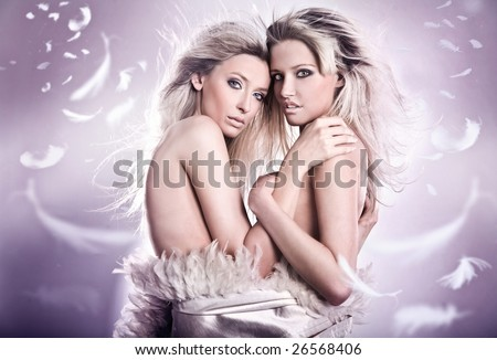 stock photo nude portrait of two sensual young girls 26568406 young girl gymnast flexible video and naked ballet females