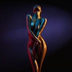 Nude sexy woman. Perfect naked body of sexy lady.