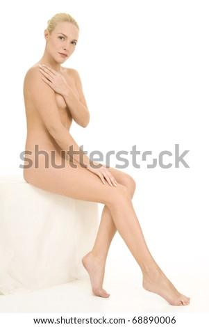 nude woman sitting